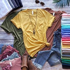 We want to share our Fall Wardrobe Must Haves with you. The sweaters, sweatshirts, cardigans, boots, and sneakers we can't wait to wear. #fallclothing #fallwardrobe