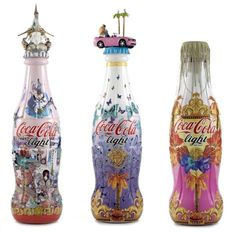 #Versace designs a second set of limited-edition Coca-Cola light designer bottles for Europe