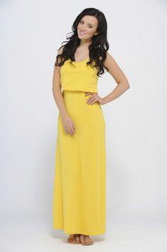 073042d2a5a Bag Over Vest Top Maxi Yellow Dress - AX Paris USA-Fashion Dresses