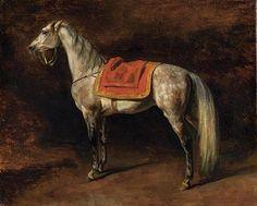 Gericault, Theodore (1791-1824) - 1813c. Napoleon's Horse ...