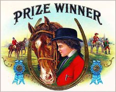 Prize Winner Horse Vintage Cigar Tobacco Box Crate Inner Label Art Print