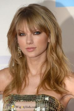 Cheap Sweet Taylor Swift Curly Hair Style 100% Human Hair Under Price $200 At WigStylish.com.