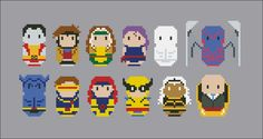 X-Men - Mini People - Pattern by CloudsFactory