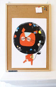 Corby Tindersticks — Lion Poster