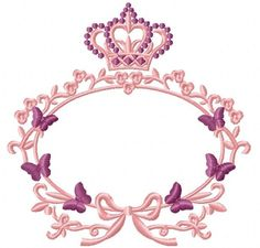 Crown and frame with butterflies / Monogram frame embroidery Machine Embroidery Designs, Embroidery Patterns, Flower Graphic Design, Wreath Drawing, Decoration Originale, Monogram Frame, Flower Backgrounds, Flower Frame, Custom Logo Design