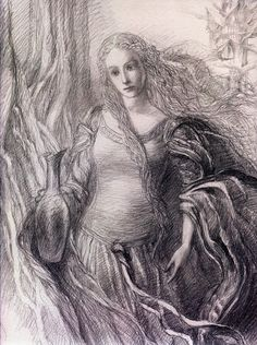 Galadriel by Alan Lee