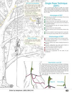Single Rope Technique (SRT) info from WesSpur Tree Equipment Arborist Catalog - page 2 of 2.
