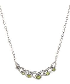Look what I found on #zulily! Peridot & Sterling Silver Pear Pendant Necklace #zulilyfinds