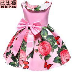 Elegant Toddler Girls Princess Dress 2018 Summer Kids Party Dresses For Girls Costume Children Prom Flower Girls Wedding Dress