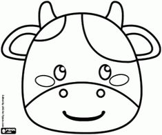 Colorear Máscara de una vaca