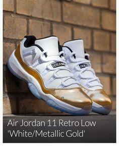 8622e1db3b4b88 Nike Air Jordan XI Retro Low  White Gold