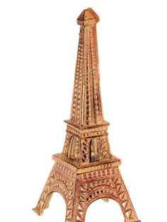Rusted Cast Iron Eiffel Tower Candle Holder