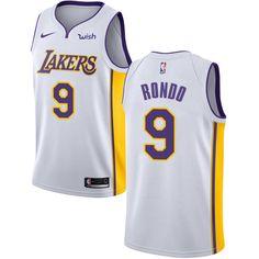 Nike Lakers  9 Rajon Rondo White Women s NBA Swingman Association Edition  Jersey 251b0ccb5