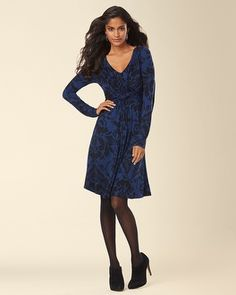Soma Intimates Long Sleeve Knot Front Dress Fancy Scroll Medievel #somaintimates My Soma Wish List Sweeps