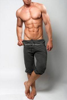 Capri Shorts Pilates Yoga or Lounge Pants for Men Yoga Fashion, Fitness Fashion, Mens Fashion, Sharp Dressed Man, Yoga For Men, Mens Fitness, Fitness Apparel, Pilates, Sexy Men