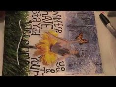 working in my collage journal - part 2 - YouTube