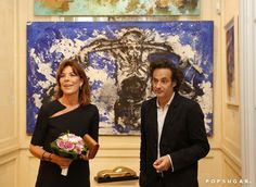 Pin for Later: Grace Kelly's Daughter Caroline of Monaco Makes a Chic Appearance at an Art Event
