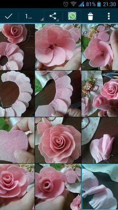 Rainbow's Crafts and Creations: How to Make Simple Felt Flowers Felt Flower Wreaths, Paper Flowers Diy, Handmade Flowers, Flower Crafts, Fabric Flowers, Diy Arts And Crafts, Felt Crafts, Diy Hair Bow Holder, Felt Flowers Patterns