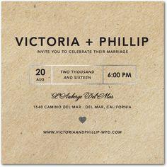 Krafted Love - Signature Foil Wedding Invitations - Magnolia Press - Black : Front