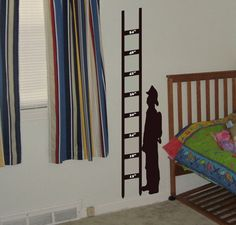 Fireman Growth Chart wall decal removable sticker by AriseDecals, $19.94