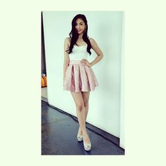 .@Perry Tabora | @Janella Salvador in an @apartment8clothing crop top for her chillout and spiels ... | Webstagram - the best Instagram viewer Salvador, Teen Fashion, Skater Skirt, Sweet Caroline, Actresses, Crop Tops, My Style, Celebrities, Skirts