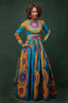 Sandra Maxi dress with pockets//African dress / African dresses for prom/ African print dress / African maxi dress African Maxi Dresses, African Attire, African Wear, African Women, African Image, African Style, African Fashion Designers, African Print Fashion, Africa Fashion