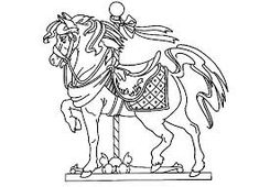 Image result for carousel horses stained glass coloring books