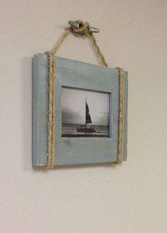 Arredare casa al mare con il fai da te - Quadretto in stile marina