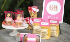Very sweet and simple display idea for bake sales - DIY packaging