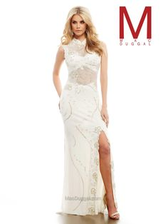 Mac Duggal Beaded Illusion Open Back Prom Dress Ivory Prom Dresses, Open Back Prom Dresses, Prom Dresses 2016, Designer Prom Dresses, Formal Dresses, Wedding Dresses, Prom 2016, Mac Duggal, Beautiful Gowns