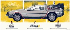 Back to the Future trilogy posters by Phantom City Creative