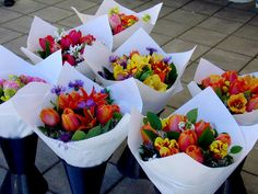 Gorgeous bouquets of