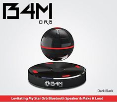 B4M ORB-Dark Black Portable Wireless Bluetooth 4.1 Floating Sound Levitating Maglev Speaker (NFC). Be amazed at the captivating, levitating, spinning black Bluetooth speaker of mystery Everyone who sees your B4M ORB-Dark Black Portable Wireless Bluetooth 4.1 Floating Sound Levitating Maglev Speaker (NFC) will want one - but you won't want them to have yours. This spinning, floating wireless Bluetooth speaker makes listening to your favorite music even more of a pleasure as it spins...