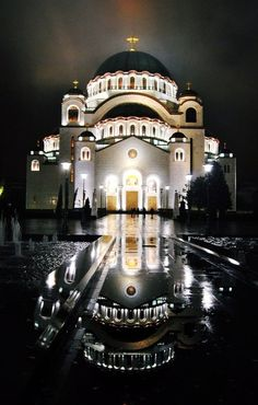 The Cathedral of Saint Sava is a Serbian Orthodox church located in Vračar, Belgrade, Serbia. It is the largest Orthodox church in the world and ranks among the ten largest church buildings in the world. Montenegro, Albania, Beautiful Buildings, Beautiful Places, Amazing Places, Bosnia Y Herzegovina, Les Balkans, Belgrade Serbia, Destinations