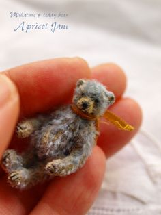 mohair bear, Apricot Jam Small Teddy Bears, Cute Teddy Bears, Tiny Teddies, Charlie Bears, Love Bear, Bear Art, Felt Animals, Art Dolls, Barbie
