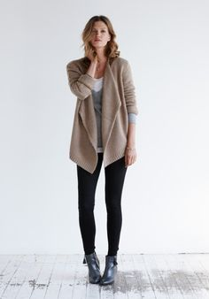 Another everyday for me!! Chunky Waterfall Cardigan by Hush