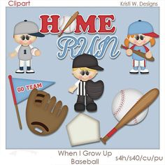 WHEN I GROW UP BASEBALL IS A DIGITAL CLIPART SET.  THIS SET CONTAINS 9 DIGITAL IMAGES.  ALL DIGITAL IMAGES ARE PROVIDED IN PNG FORMAT.    THE DIGITAL