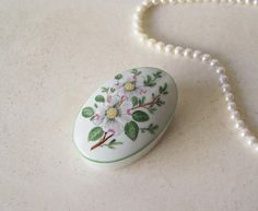 Vintage Limoges Trinket Box White Porcelain Engagement Ring