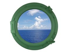 Seafoam Green Decorative Ship Porthole Window 20""