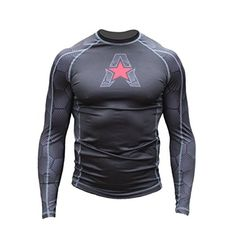NEW Anthem Athletics HELOX Long Sleeve Rashguard  BJJ  MMA  Black Hex With Red  XXLarge ** Learn more by visiting the image link.
