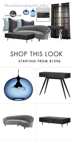 Styling Idea by kakaduart on Polyvore featuring interior, interiors, interior design, dom, home decor, interior decorating and Eichholtz, pillows by KakaduArt