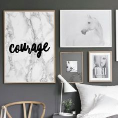 """Motivational Quote Poster """"Courage"""" Home Office Dorm Living Room Decor [UNFRAMED]"""
