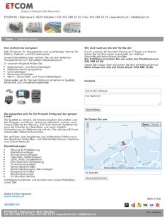 Etcom, Elektriker, Elektroinstallateur, Elektro Telecom, Elektrokontrollen, Elektroinstallationsgeschäft, EDV-Netzwerke, Wetzikon