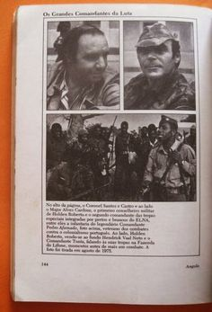 Conselheiros militares portugueses da FNLA. Na foto abaixo, tropas do ENLA. Agosto de 1975.
