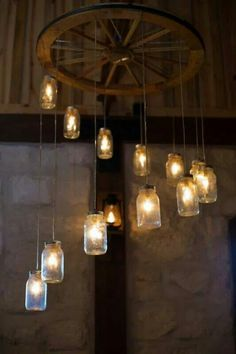 I love this mason jar chandelier!