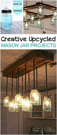 Creative Upcycled Mason Jar Projects -
