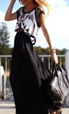 Crop Top + Maxi Skirt