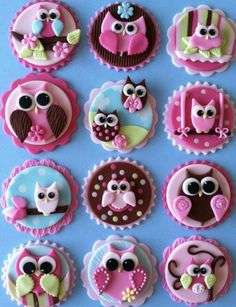Owls. perfect for the tops of cup cakes