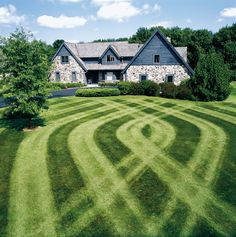 Lawn striping. Great mowing pattern lends visual interest.