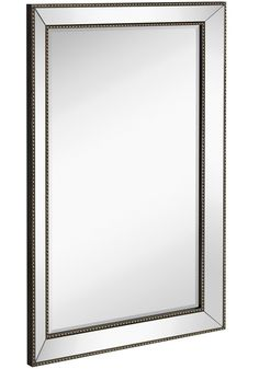"""Amazon.com: Large Framed Wall Mirror with Angled Beveled Mirror Frame and Beaded Accents 